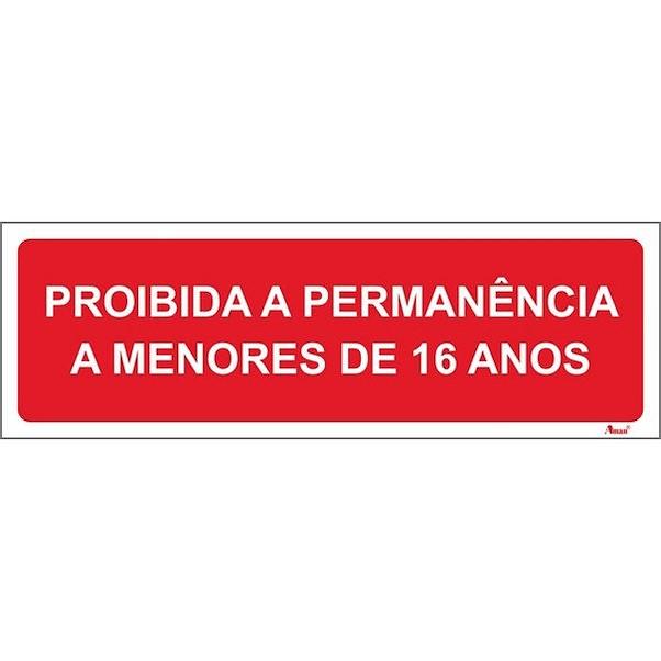 PROÍBIDO ENTRADA DE MENORES 200MM