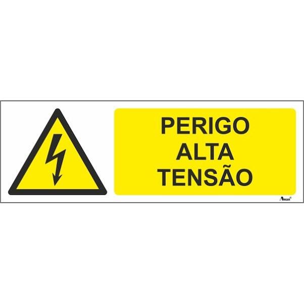 PERIGO ALTA TENSAO 300MM