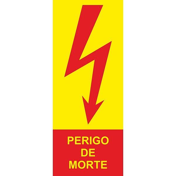PERIGO DE MORTE 100MM