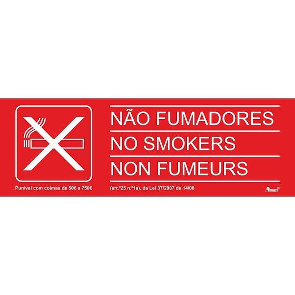 PROÍBIDO FUMAR EM 3 IDIOMAS 200MM