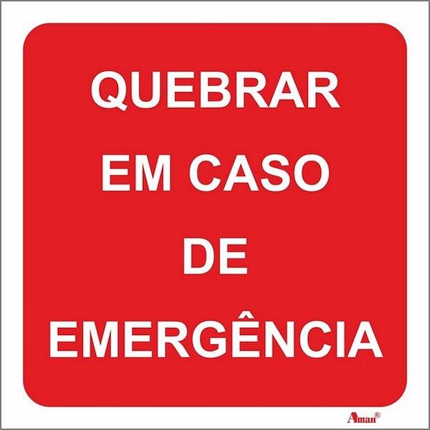 QUEBRAR EM CASO DE EMERGÊNCIA 200MM