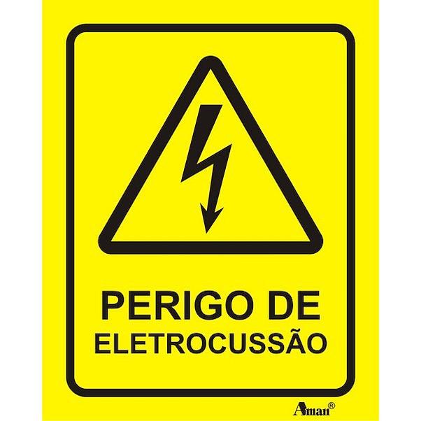 PERIGO DE ELECTROCUSSÃO 100MM