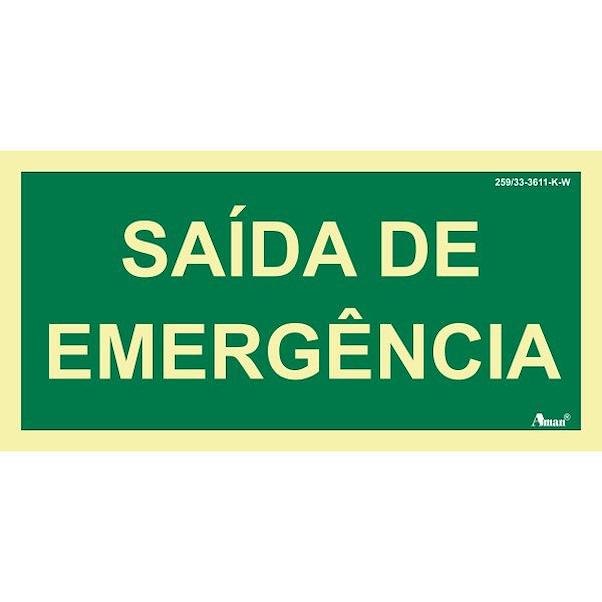 SAÍDA DE EMERGENCIA 210MM