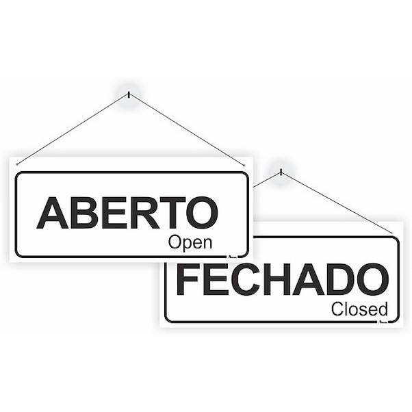 ABERTO/FECHADO 250MM