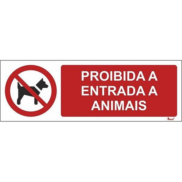ENTRADA PROÍBIDA ANIMAIS 300MM