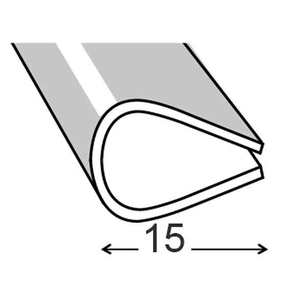 PVC PRETO 15MM 100CM