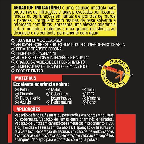 AGUASTOP CINZA 300 ML
