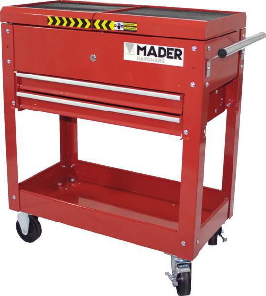 MADEIRA - Carro de ferramentas MHW 2 GAVETAS E 2 BANDEJAS