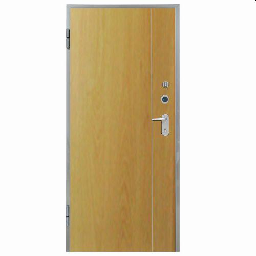 Porta de entrada blindada HI-TECH CARVALHO 90X204CM ESQUERDA