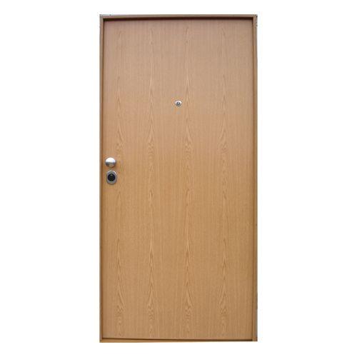 Porta de entrada blindada START CARVALHO 85X200CM DIREITA