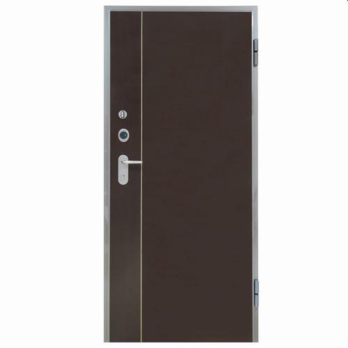 Porta de entrada blindada HI-TECH WENGUÉ 80X200CM DIREITA