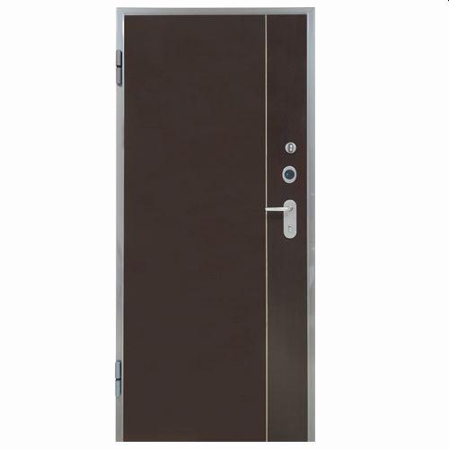 Porta de entrada blindada HI-TECH WENGUÉ 85X210CM ESQUERDA