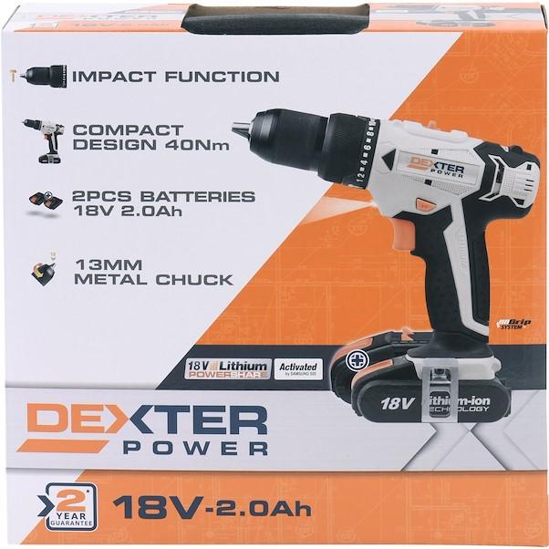 DEXTER POWER 18V 2 BATERIAS