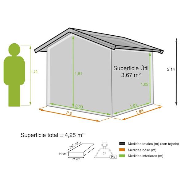 BREDA 4,25 m²