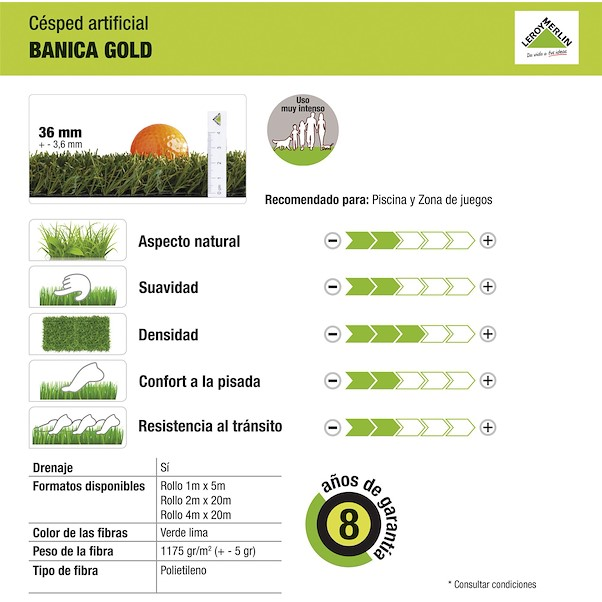 BANICA GOLD 36MM 1X5M