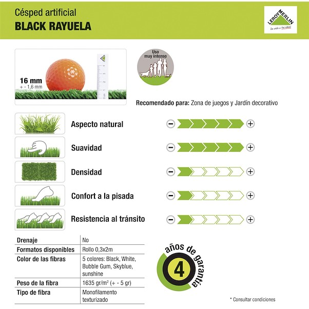 PRÉ-CORTADA BLACK RAYUELA 2X3M