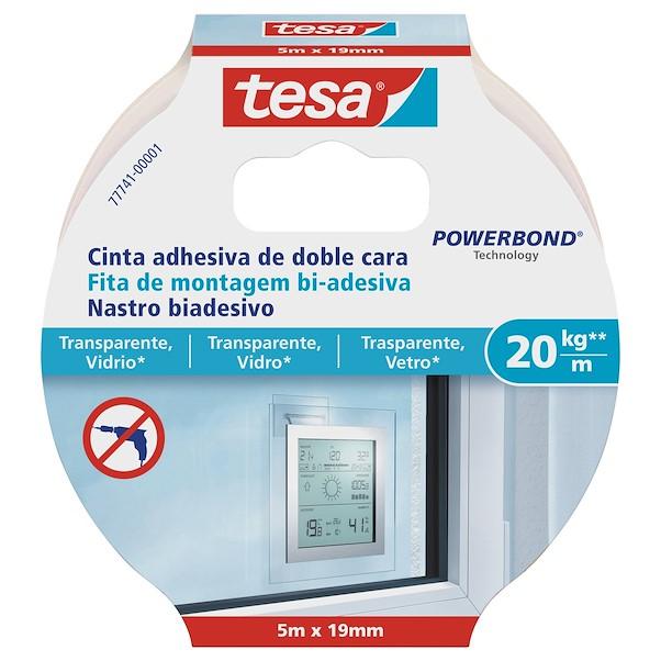 TESA VIDRO 5M TRANSPARENTE