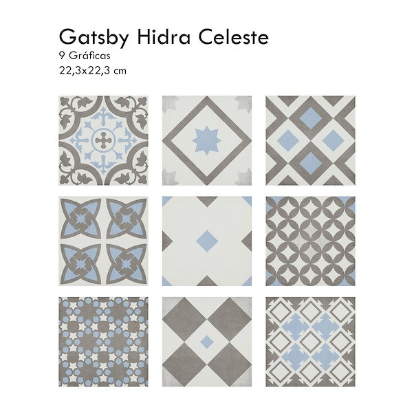 22.3X22.3CM GATSBY CELESTE