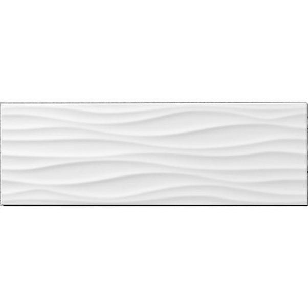 RELIEF WAVE BRANCO 25X75CM MATE