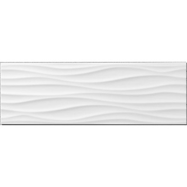 RELIEF WAVE BRANCO 25X75CM MATE