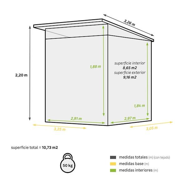 KUMA AXESS 3.25X3.3M ÁREA ÚTIL 8.65M²