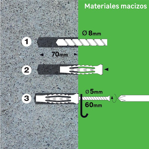 MULTIMATATERIAL 8X50MM COM PARAFUSO