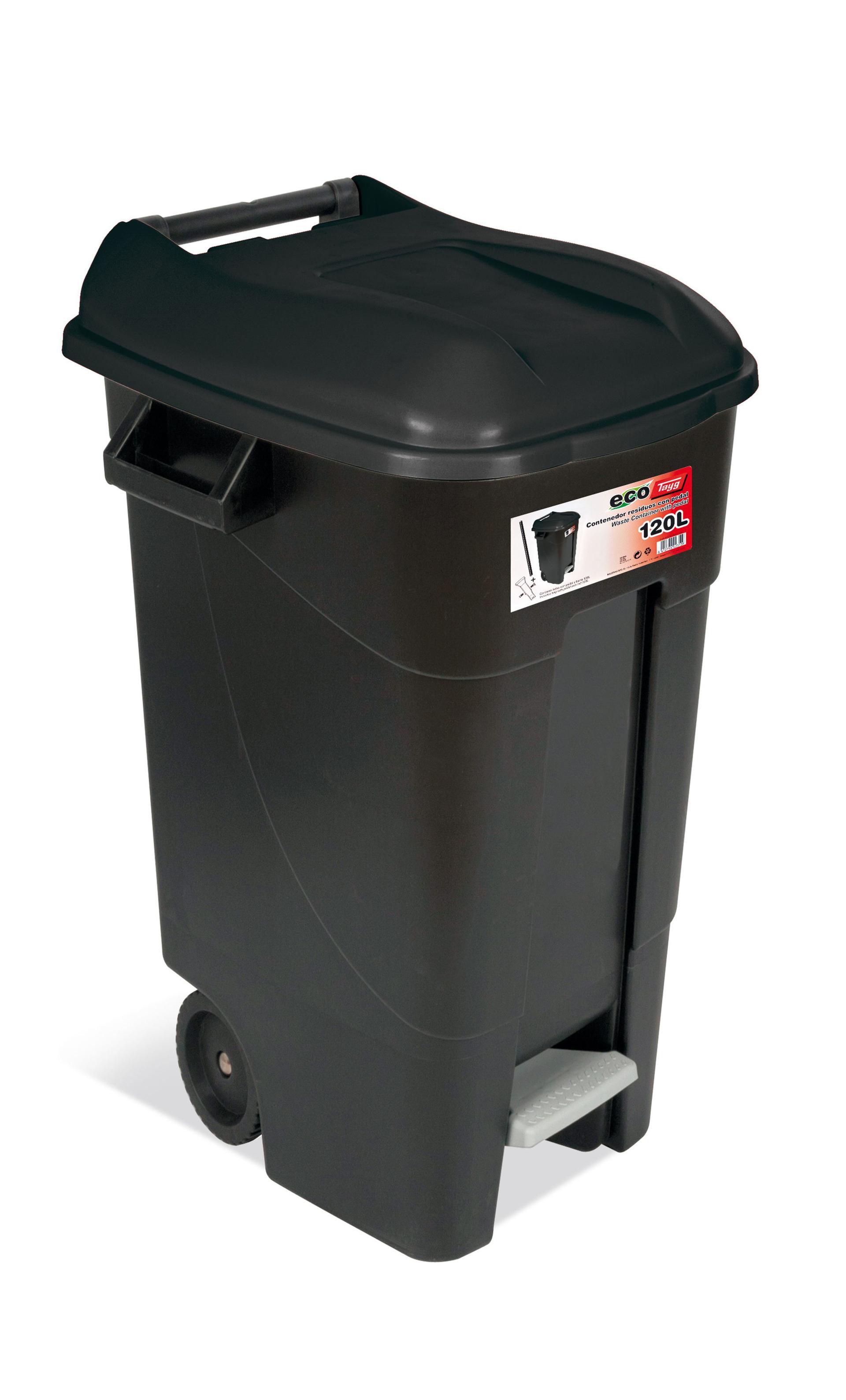 Caixote do lixo ECO 120L PRETO