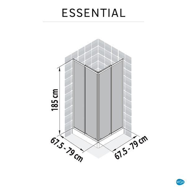 ESSENTIAL (70-80)X(70-80)X185CM